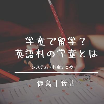 徳島佐古|学童が英語留学?徳島第一英語村の学童×英会話[料金・時間まとめ]